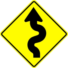 wiggle road sign